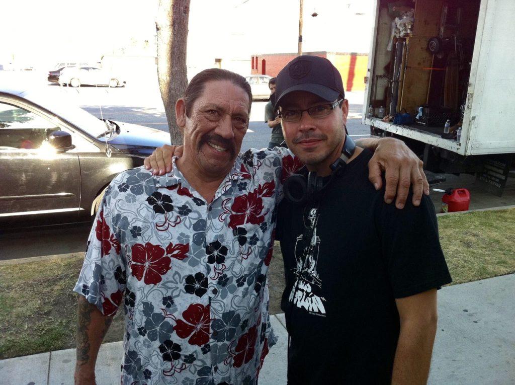 Danny Trejo and Kenneth Castillo on set.